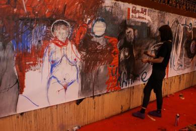 Festiwal Rysowania - artyści opanowali halę MOSIR
