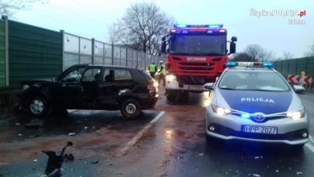 Wypadek na na drodze krajowej nr 88. Policja wyjaśnia okoliczności zdarzenia drogowego