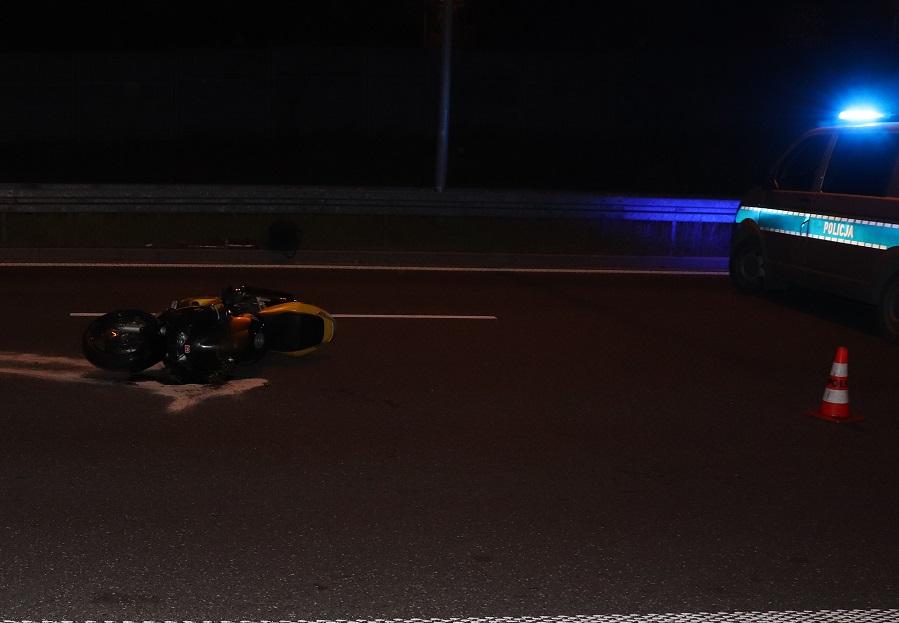 Zabrze: Śmiertelny wypadek na DTŚ. Zginął motocyklista