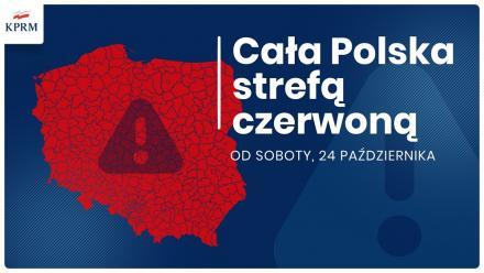 Premier: cała Polska od soboty strefą czerwoną [trwa konferencja prasowa]
