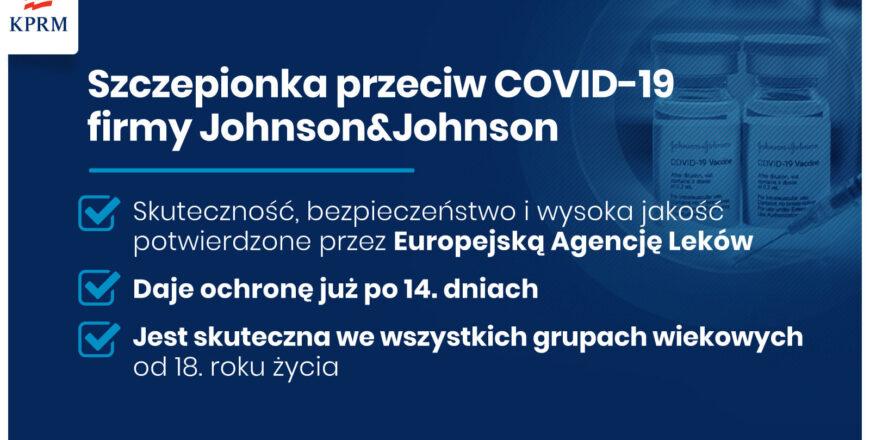 Szczepionka firmy Johnson&Johnson w Punkcie Szczepień Powszechnych w Zabrzu