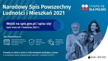 Trwa Narodowy Spis Powszechny 2021 - wypełnij formularz przez internet!