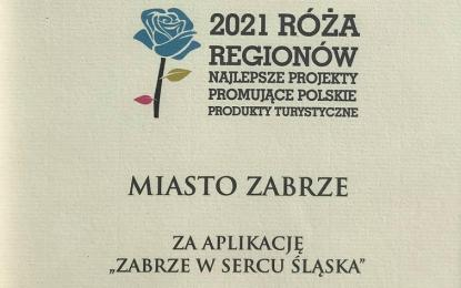 """Aplikacja """"Zabrze w sercu Śląska"""" wyróżniona w konkursie """"Róża Regionów"""""""